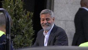 George Clooney, este martes en Madrid.