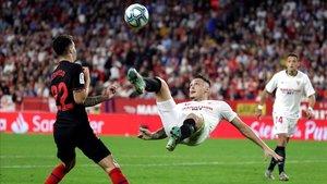 Lucas Ocampos se ha convertido en la principal referencia de ataque del Sevilla FC