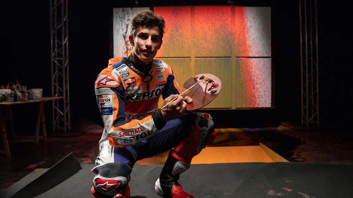 Marc Márquez, el artista de los 8 títulos. El piloto de Repsol Honda nos descubre una de sus pasiones ocultas: la pintura