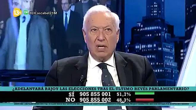 Lexministre José Manuel García Margallo, a 13TV.