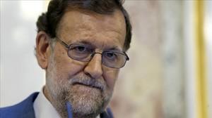 El presidente del Gobierno en funciones, Mariano Rajoy, en el Congreso.