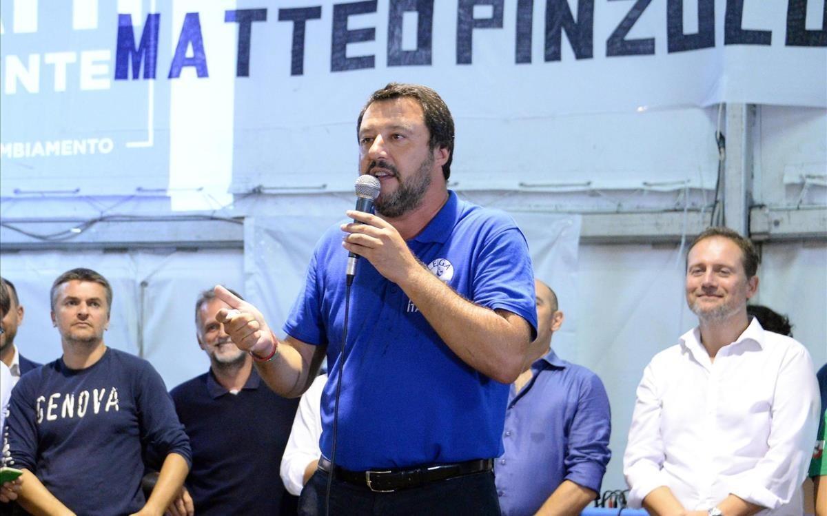 Matteo Salvini, ministro del Interior italiano.