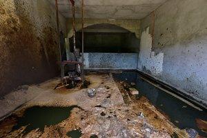 Lacasa habitación donde fue hallado un brote de petróelo enMexico.