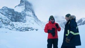 Moland (izquierda) y Neeson, en una pausa del rodaje.
