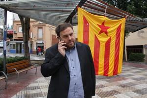 Oriol Junqueras, aquest divendres a Sant Vicenç dels Horts.