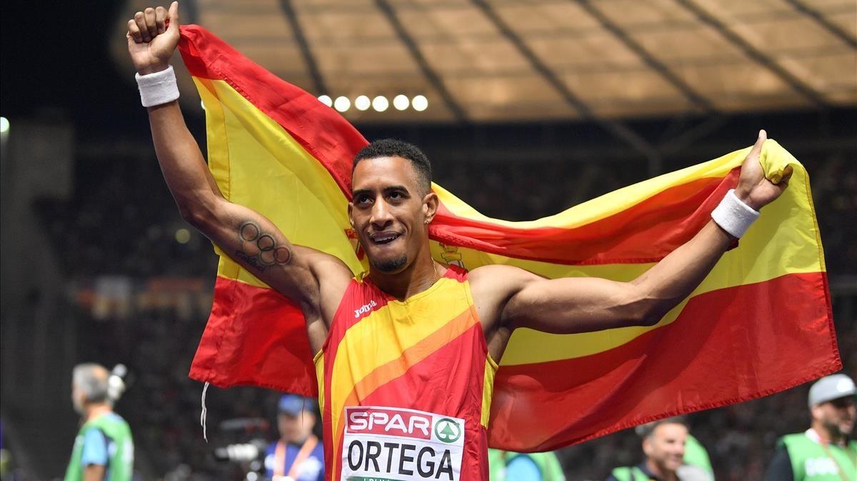 Orlando Ortega, tras ganar el bronce.