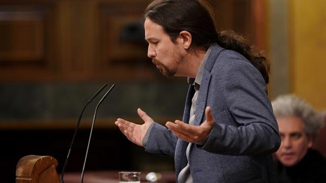 Pablo Iglesias pide a Pedro Sánchez que no incendie Catalunya.