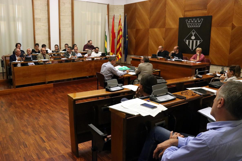 Pleno municipal en el Ayuntamiento de Sabadell.