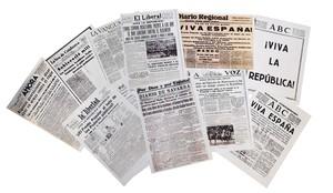 Portadas del mes de julio de 1936 de varios diarios españoles que recogieron el golpe de Estado.
