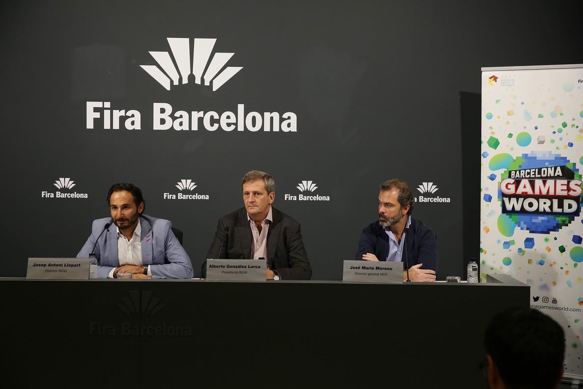 Presentación del Barcelona Games World.