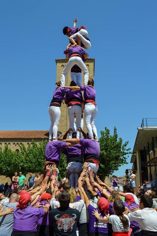 El 'quatre de sis' descargado por los Manyacs de Parets durante la fiesta mayor del municipio, a principios de agosto.