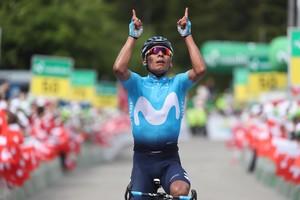 Triunfo Nairo Quintana en Suiza.