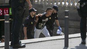 Redada policial a los carteristas del metro.