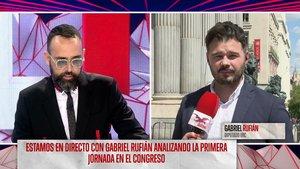Risto Mejide hablando con Gabriel Rufián en Todo es mentira.