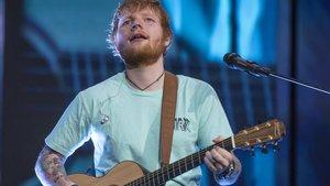 Ed Sheeran, este viernes en el Estadi Olímpic de Barcelona