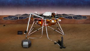 Lasonda InSightde la NASA en su expedición en Marte.