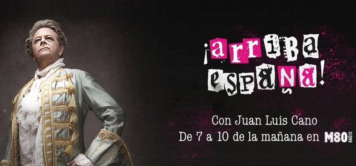 Jose Luis Cano, en la imagen de portada de su programa de radio ¡Arriba España!.