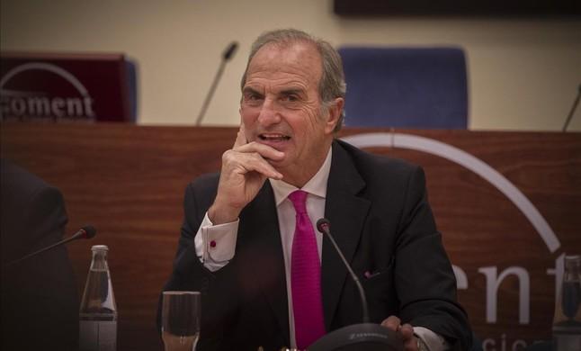 Joaquim Gay de Montellà, antes de su proclamación de nuevo como presidente de Foment.