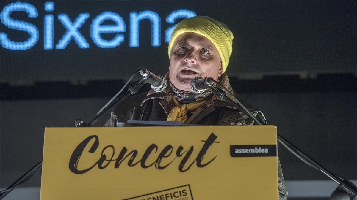 Toni Albà, en el concierto de ANC y Òmnium por la libertad de los presos