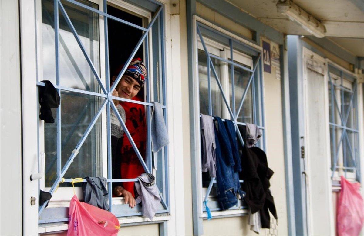 Una inmigrante en el campo de refugiados de Fylakio, en Grecia.