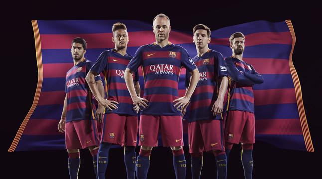 La camiseta del Barça de la temporada 2015-2016.