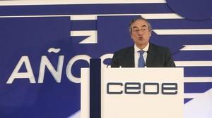 El presidente de CEOE, Juan Rosell, en una imagen de archivo.