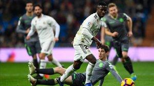 Vinicius Junior en la derrota del Madrid ante el Real Sociedad.