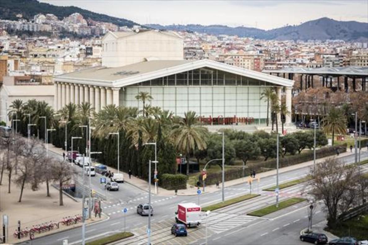Vista aérea del espectacular edificio del Teatre Nacional de Catalunya.