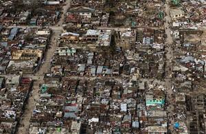 Vista aérea de la localidad haitiana de Jeremie, destruida por el huracán Matthew.