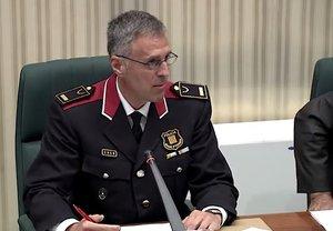 Marc Caparrós, en la comisión de Interior delParlament.