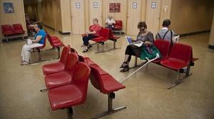 La sala de espera de un ambulatorio de Barcelona.