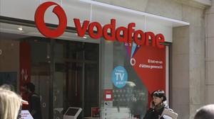 Tienda de Vodafone en Portal de lÀngel (Barcelona).