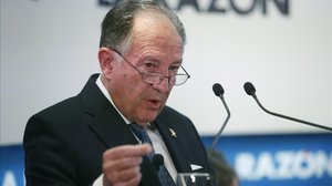 Félix Sanz Roldán, durante una conferencia en enero del 2017.
