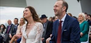 Carolina Punset y su maridoAlexis Marí.