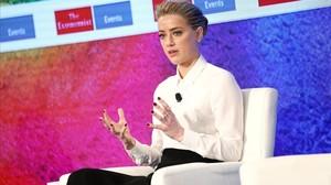 La actriz británica Amber Heard.