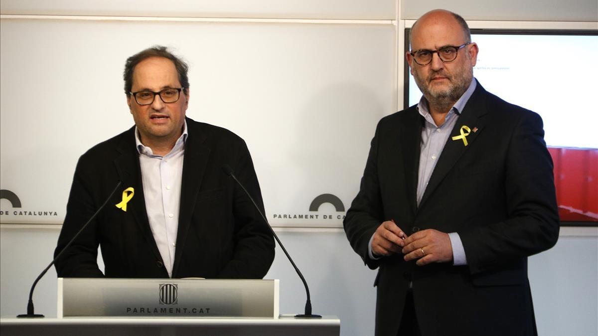 El control de la comunicació del Govern enquista el pacte JxCat-ERC