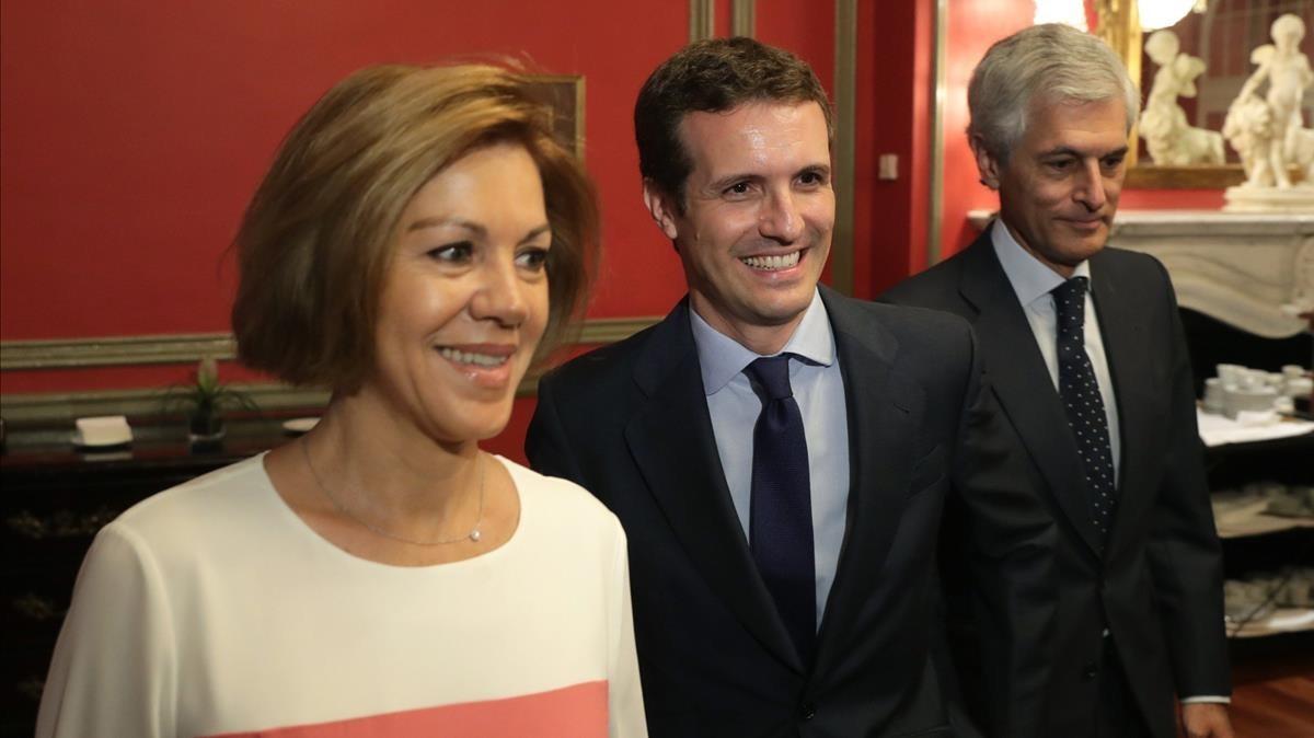 María Dolores de Cospedal y Pablo Casado.