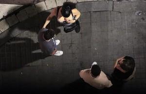 Trabajadoras sexuales en la esquina de La Rambla con la calle Hospital
