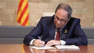 Torra dilata la recuperació de les lleis suspeses pel TC
