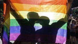 Imagen de la manifestación por el Día del Orgullo Gayen Barcelona