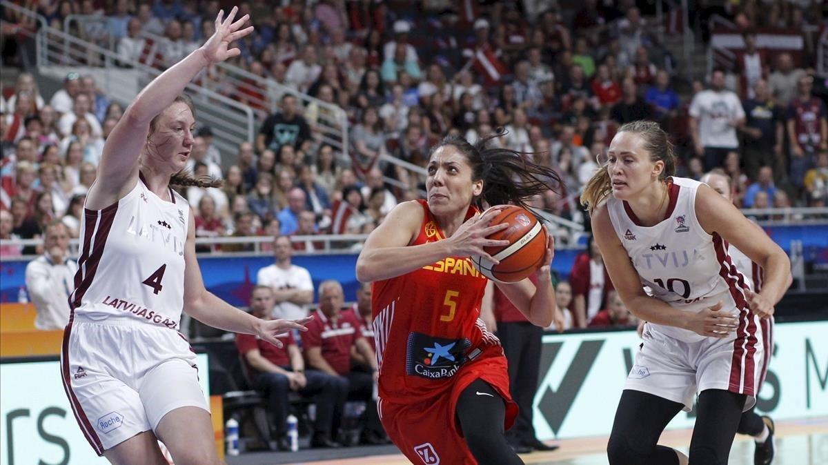 Espanya aconsegueix el ple contra Letònia i salta als quarts de final (56-59)