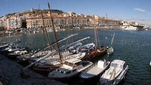 Una vista de Sète, desde el muelle pesquero.