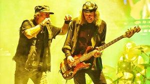 Un momento de la actuación de Krokusen el Rock Fest.