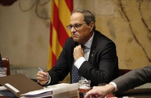 Sondeig: La meitat dels catalans demanen eleccions a Torra