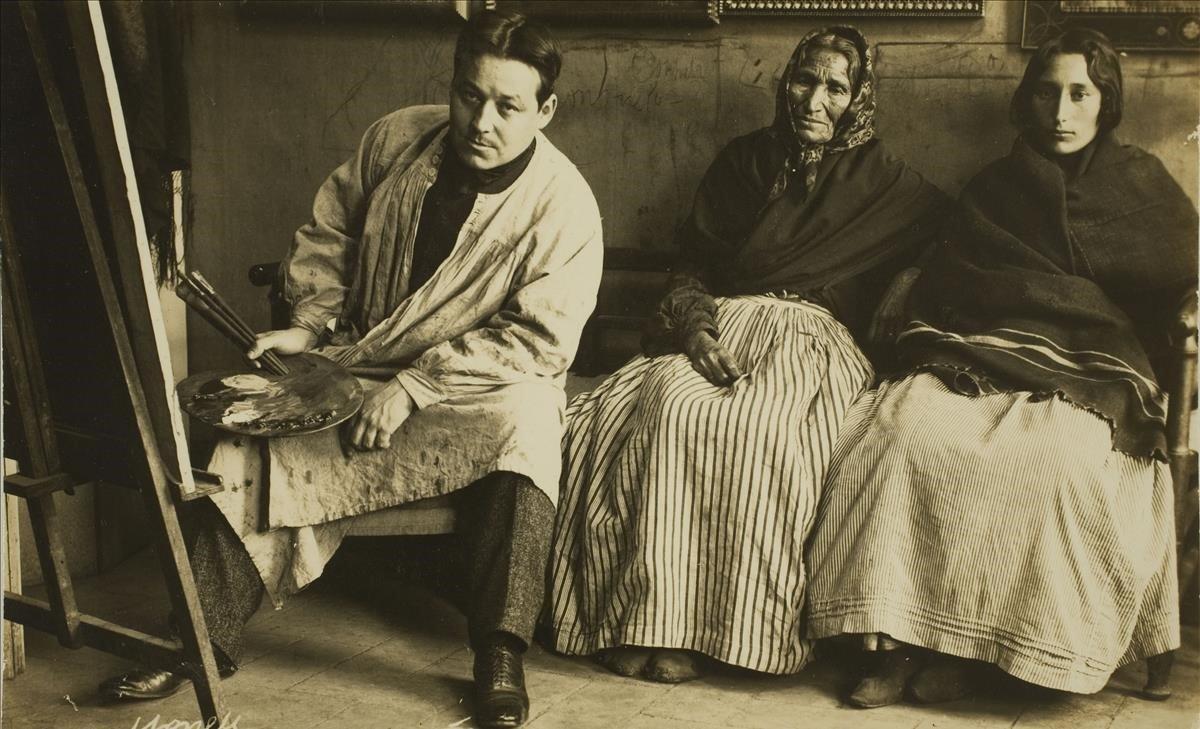 'Retrato de Isidre Nonell en su taller', foto de Francesc Serra.