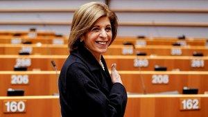 La comisaria Stella Kyriakides, en el Parlamento Europeo.