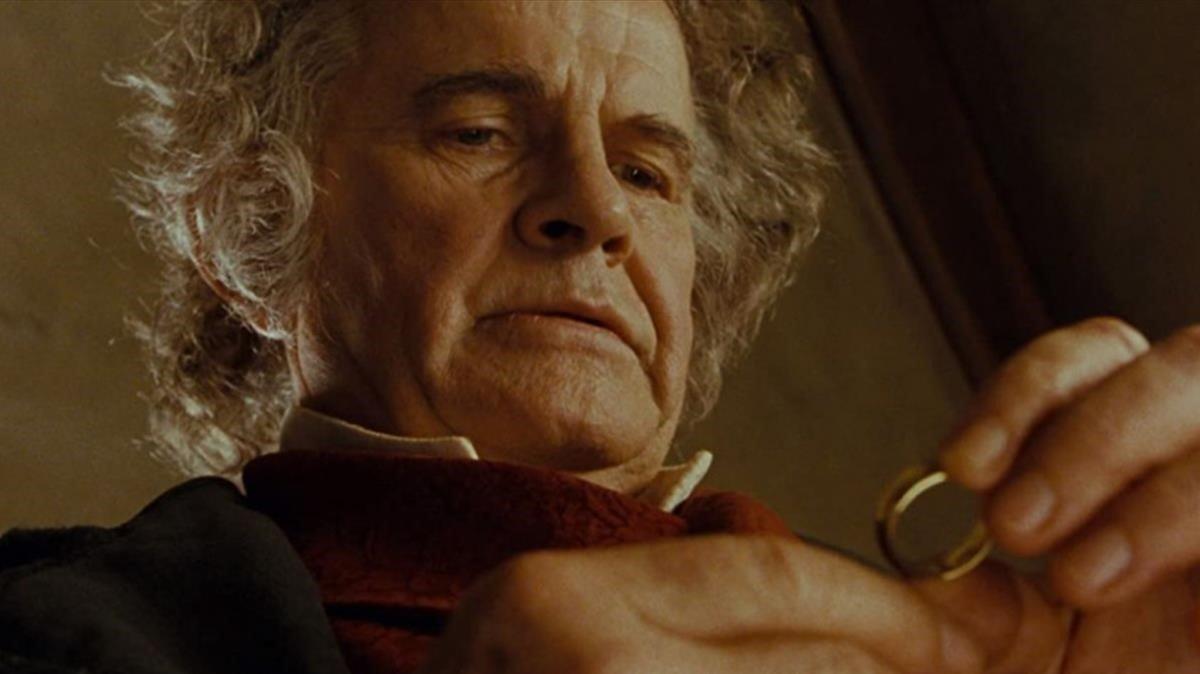 El actor encarnando a Bilbo Bolsón en 'El señor de los anillos'.