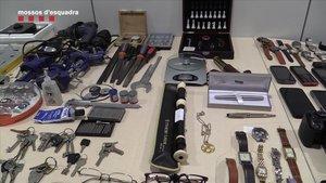 Desarticulat a Barcelona un grup que va robar a 10 pisos