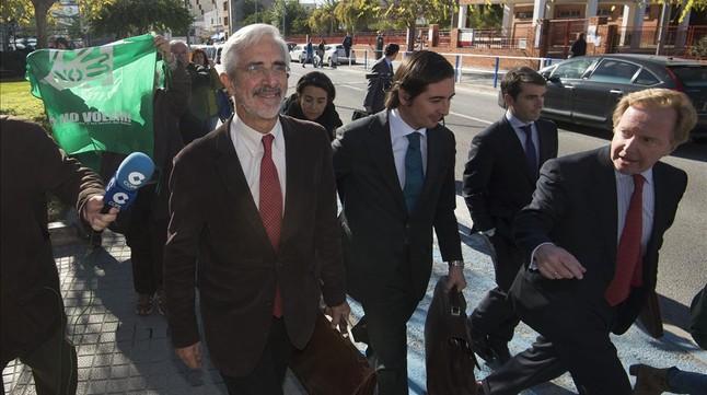 Recaredo del Potro, tras declarar en el juzgado de Vinaròs.
