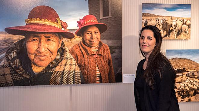 Morgana Vargas Llosa, que inaugura una exposició de fotos del Perú